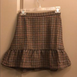 J crew houndstooth skirt